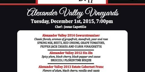 December Wine Dinner Menu