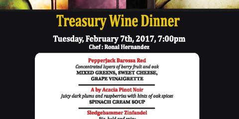 Treasury Wine Dinner
